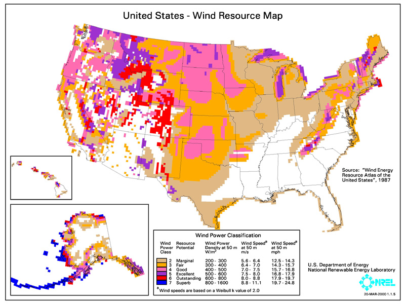 Solar Ray Wind Power And Turbine Systems - Map Of The Wind Farms In The Us